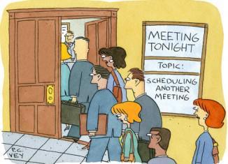 Οι συναντήσεις - meetings έχουν χρησιμότητα, αφού μπορείς να οργανώσεις καλύτερα την ομάδα, παραμένουν όμως μια διακοπή για την παραγωγική διαδικασία.